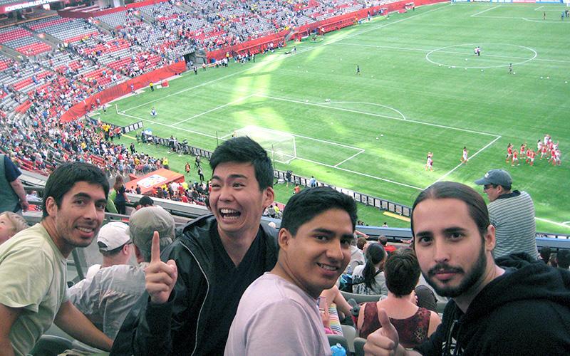 友人とバンクーバーで行われたワールドカップ2015観戦