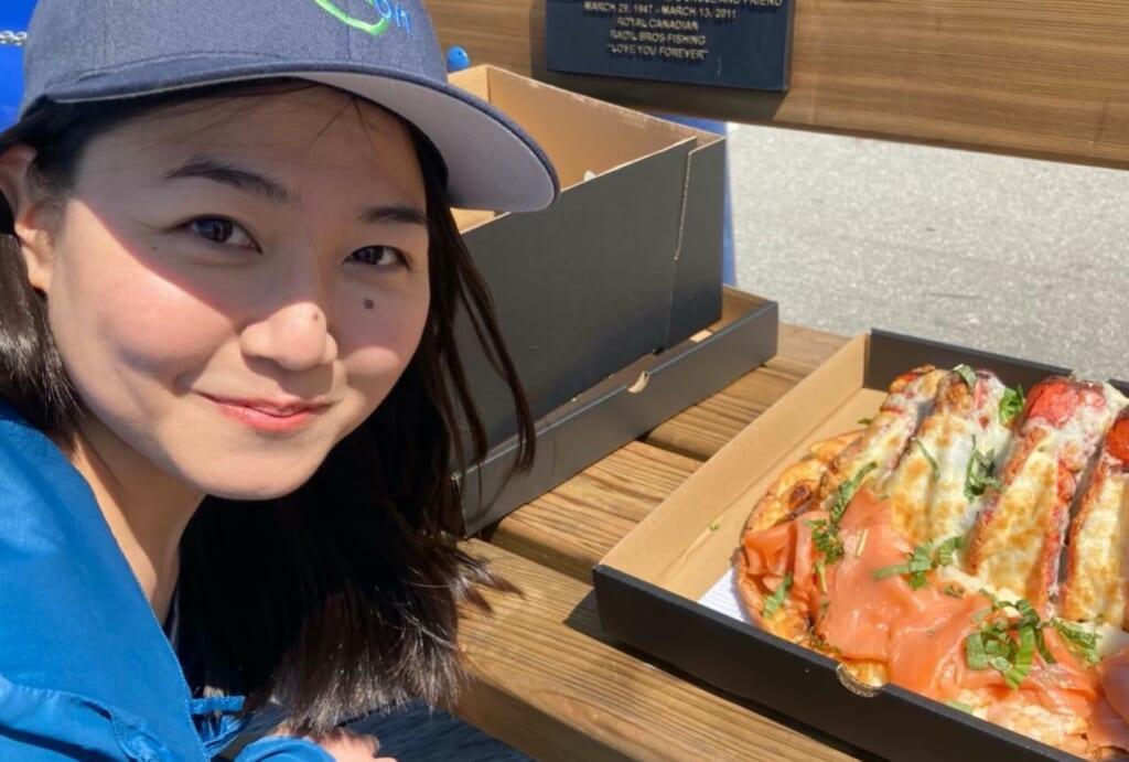 Sayakaさんの大好きなStevestonの有名なピザ
